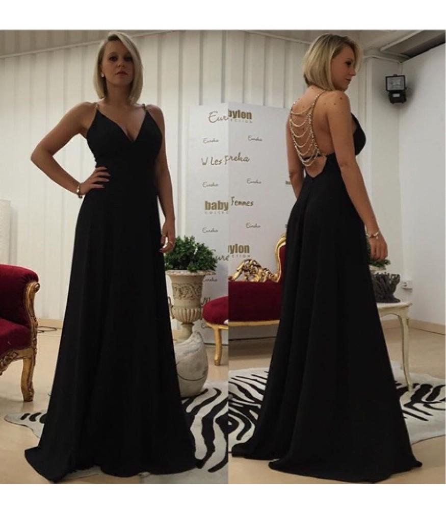 Длинное платье с открытой спиной Babylon